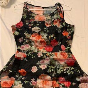 BB Dakota Black Floral Tea Dress no tags